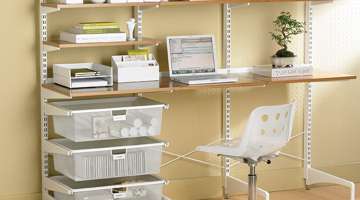 container-store-wall-mount-desk[1] how to design your home office for productivity - container store wall mount desk1 - How to Design Your Home Office for Productivity