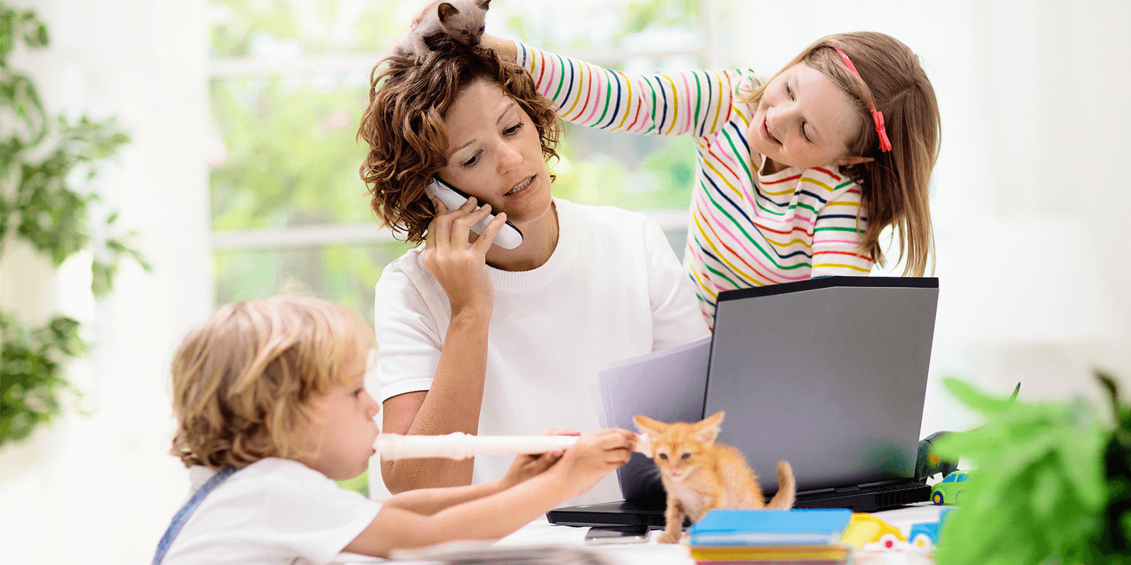 work environment - kids interrupt1 - What's The Best Work Environment for Your Personality? [Quiz]